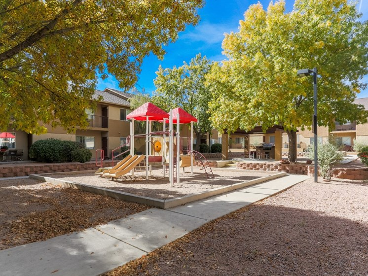 Courtyard with Playground & BBQ Gazebo