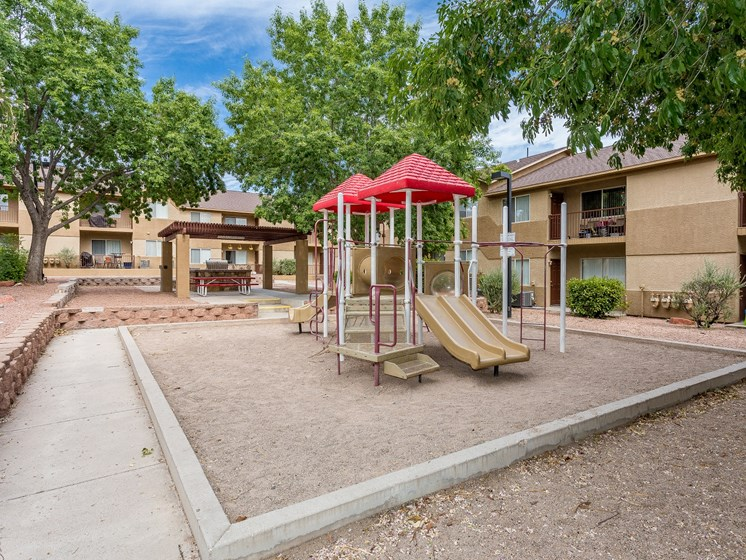 Courtside Apartment Playground in Cottonwood, AZ