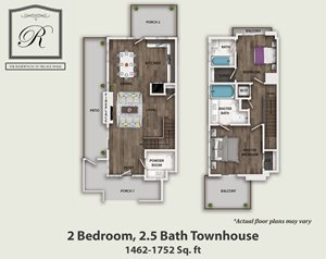 2 Bedroom 2.5 Bath Townhouse