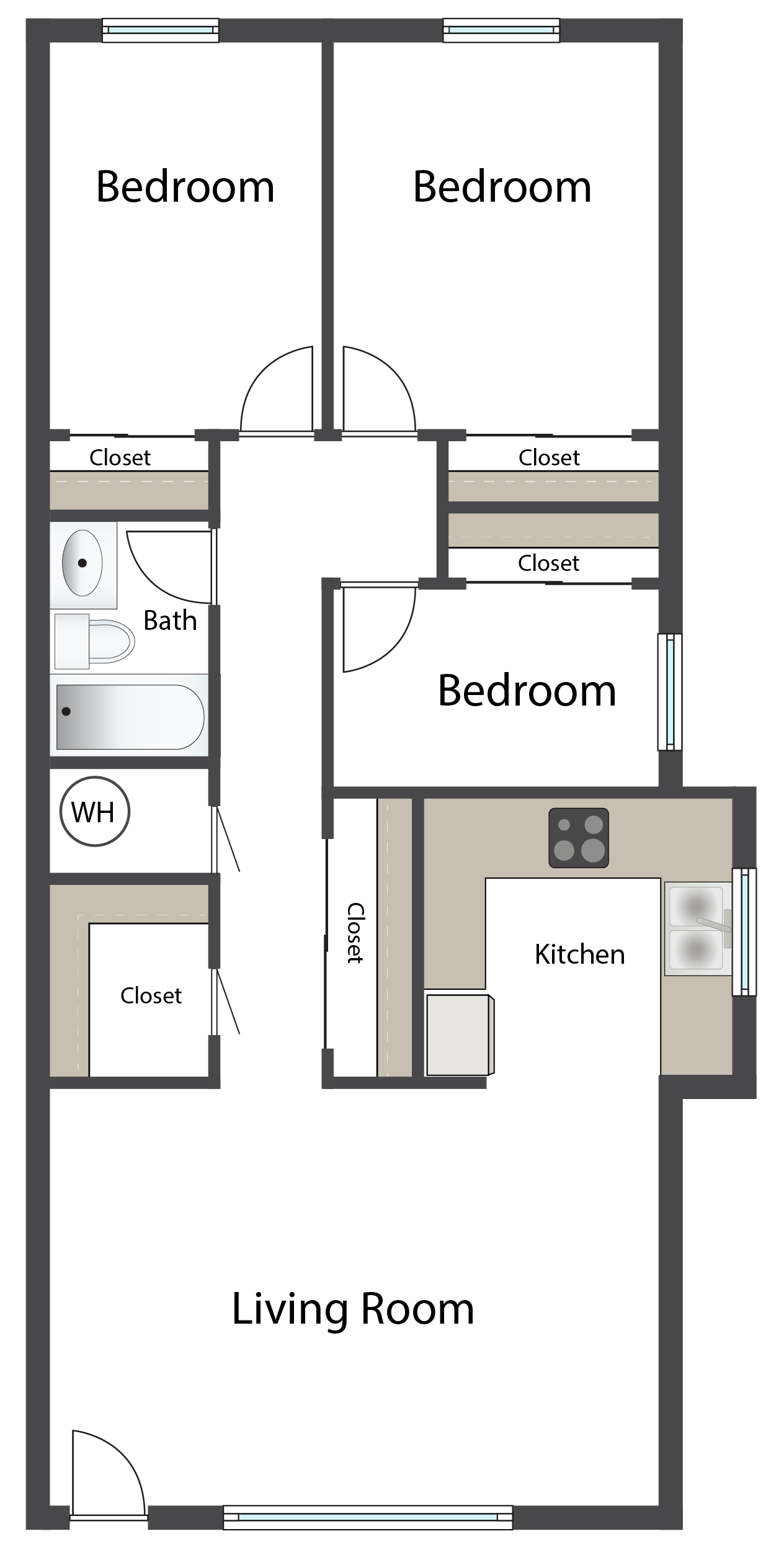 Three Bedroom Floor Plan 6
