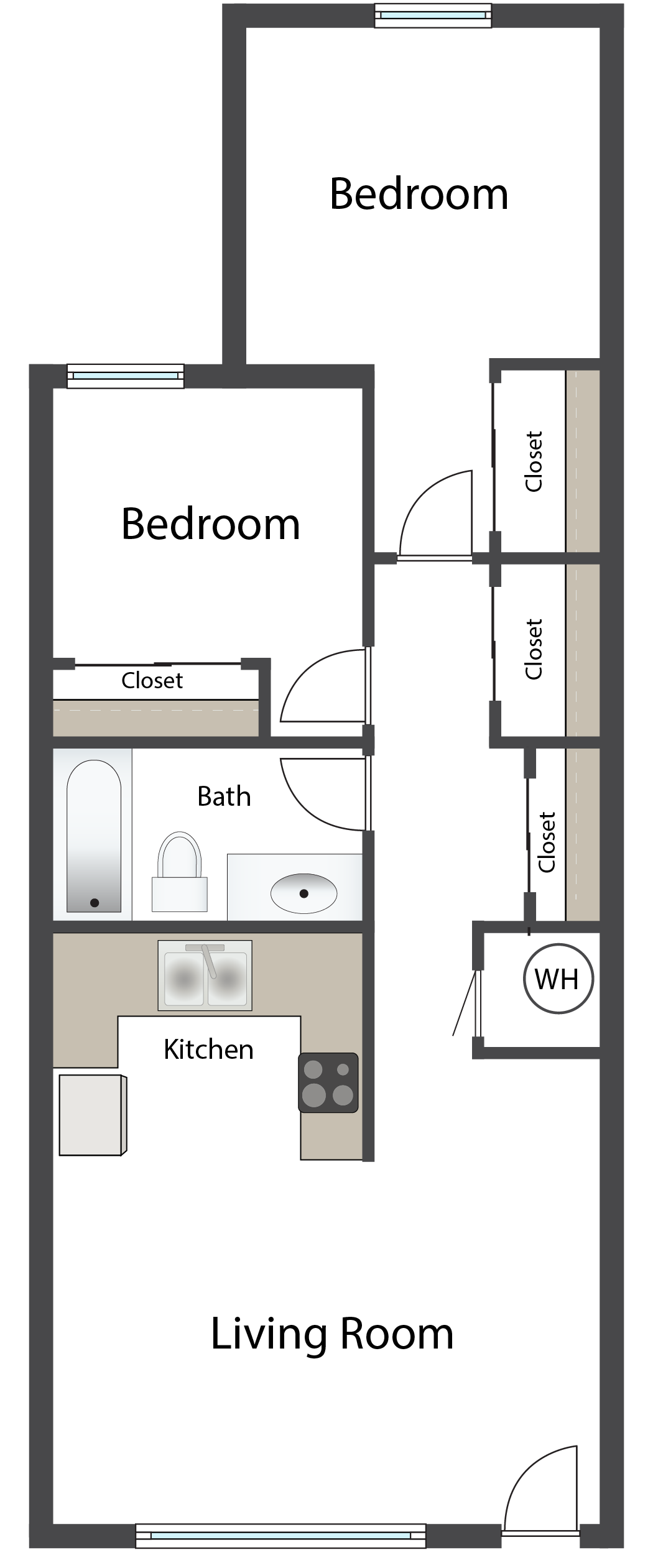Two Bedroom B Floor Plan 4