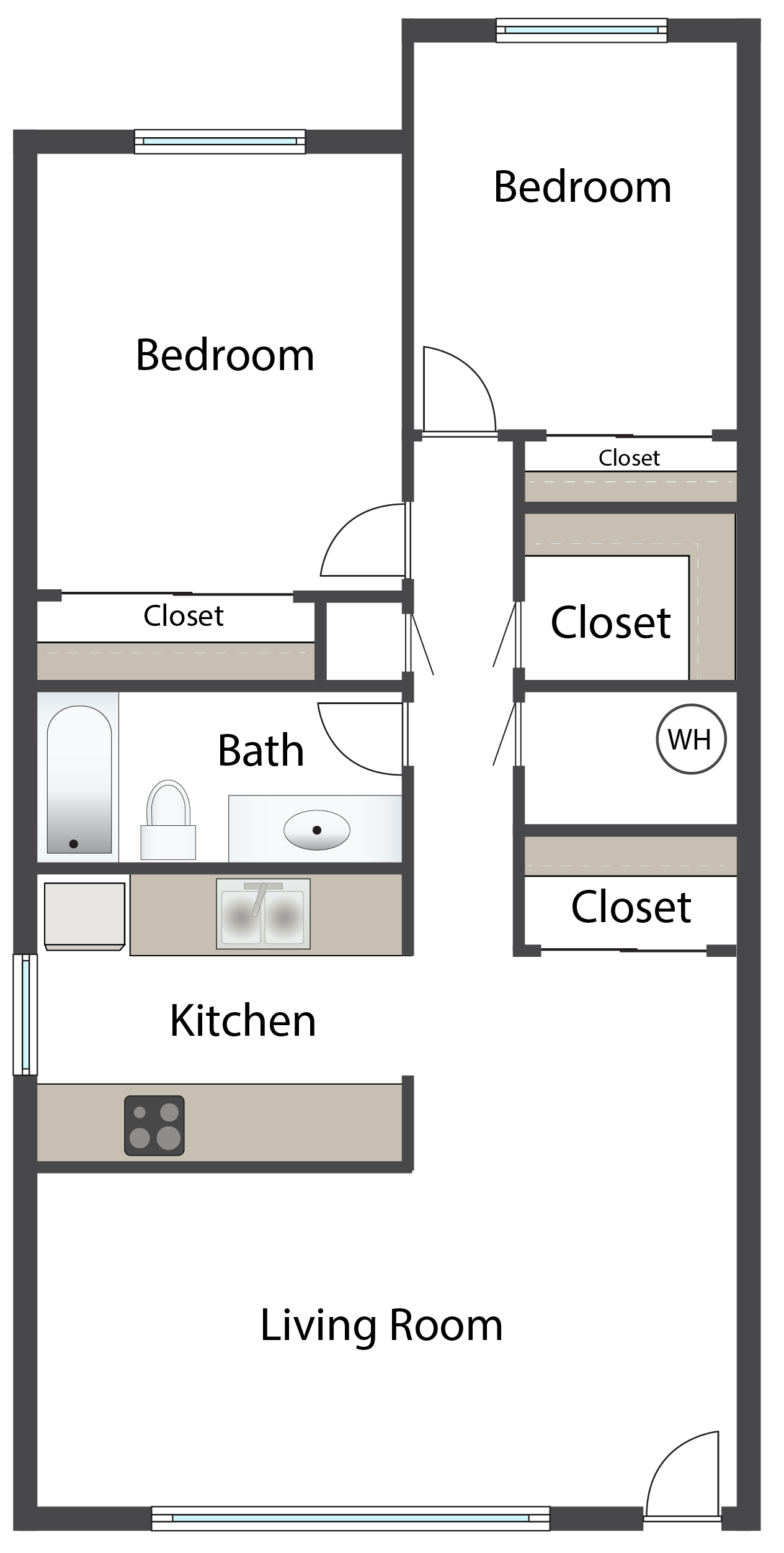 Two Bedroom C Floor Plan 5