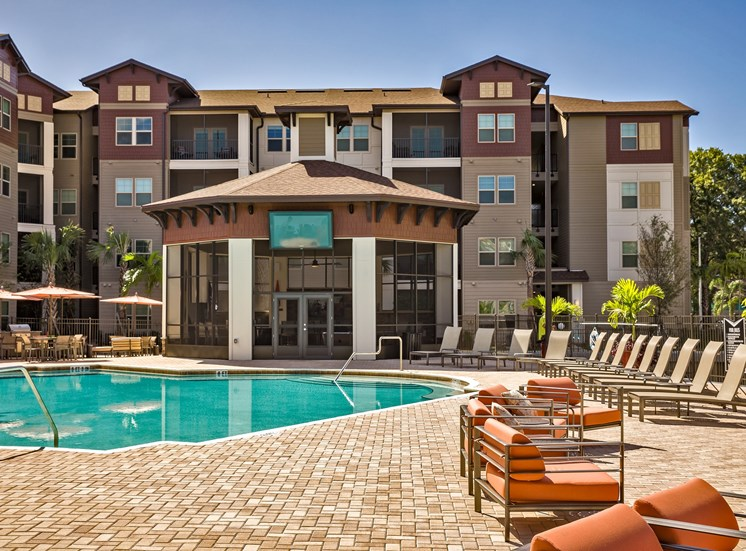 The Boulevard Apartments Largo Florida Pool Area