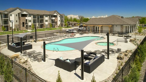 Resort-Style Pool at Pinyon Pointe, Loveland, Colorado