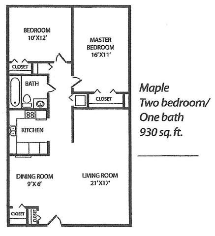 Maple Floor Plan 4