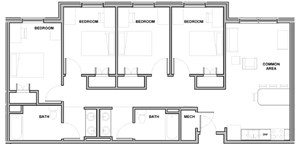 4 Bedroom/ 2 Bath