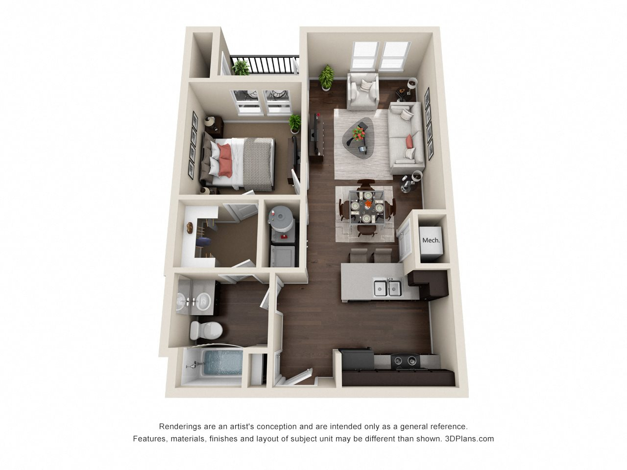 Unit A Floor Plan 1