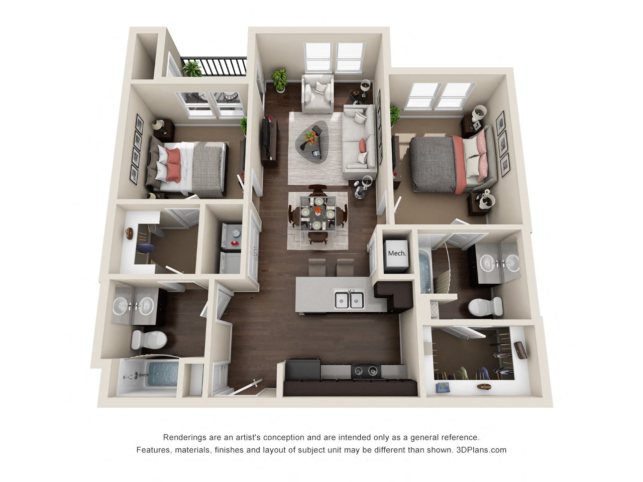 Unit B Floor Plan 2