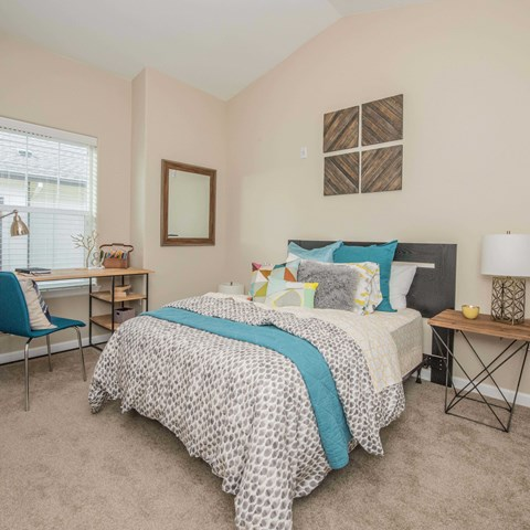 Apartments in Happy Valley OR- Latitiude Bedroom with Plush Carpets