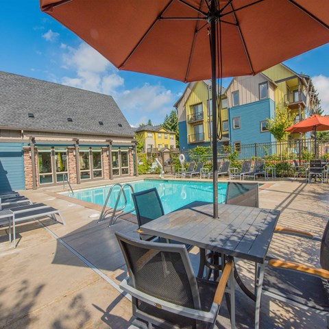 Latitude Apartments in Happy Valley- Pool with Lounge Chairs
