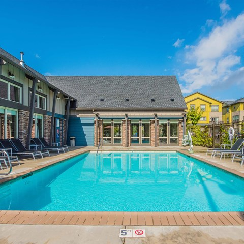 Pool with furniture  Latitude Apt  homes Happy Valley OR