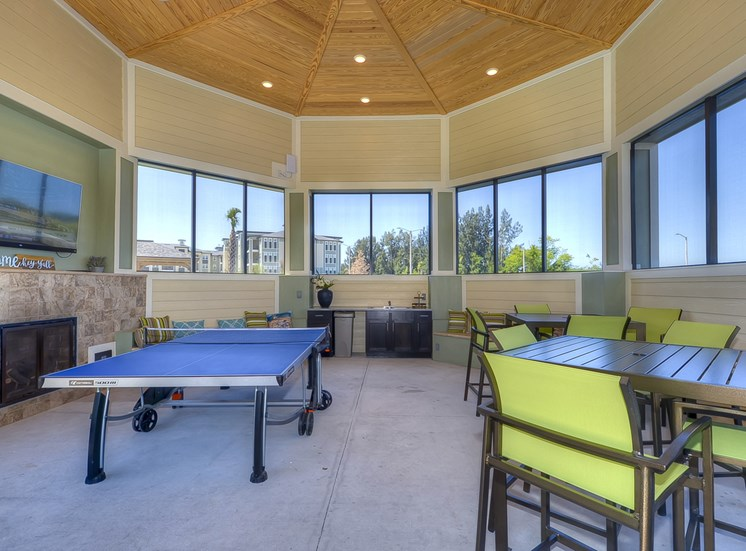 Charleston on 66th Apartments Game Room with Billiards