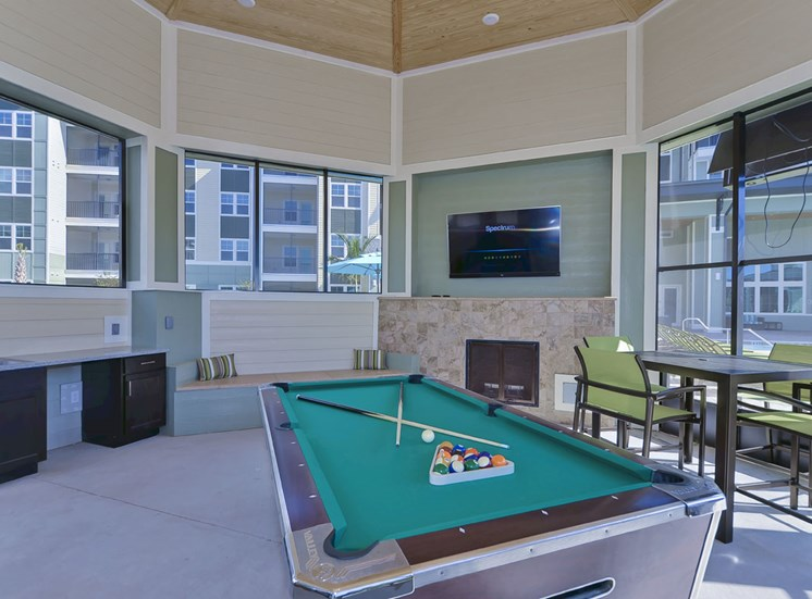 Charleston on 66th Apartments Game Room with Billiards |Largo, FL