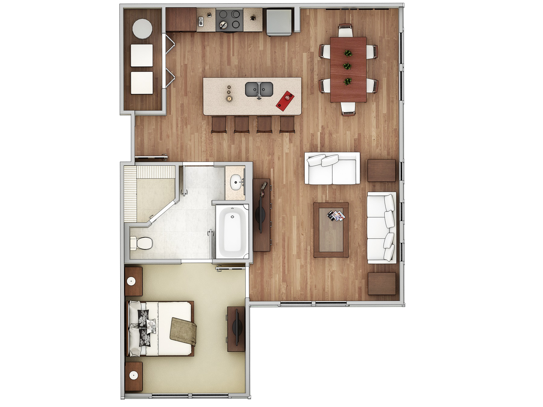 One bedroom, one bath home at Charleston on 66th in Largo, FL