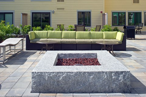 NoBe Stunning Rooftop Courtyard with an Outdoor Living Room and Fire Pit