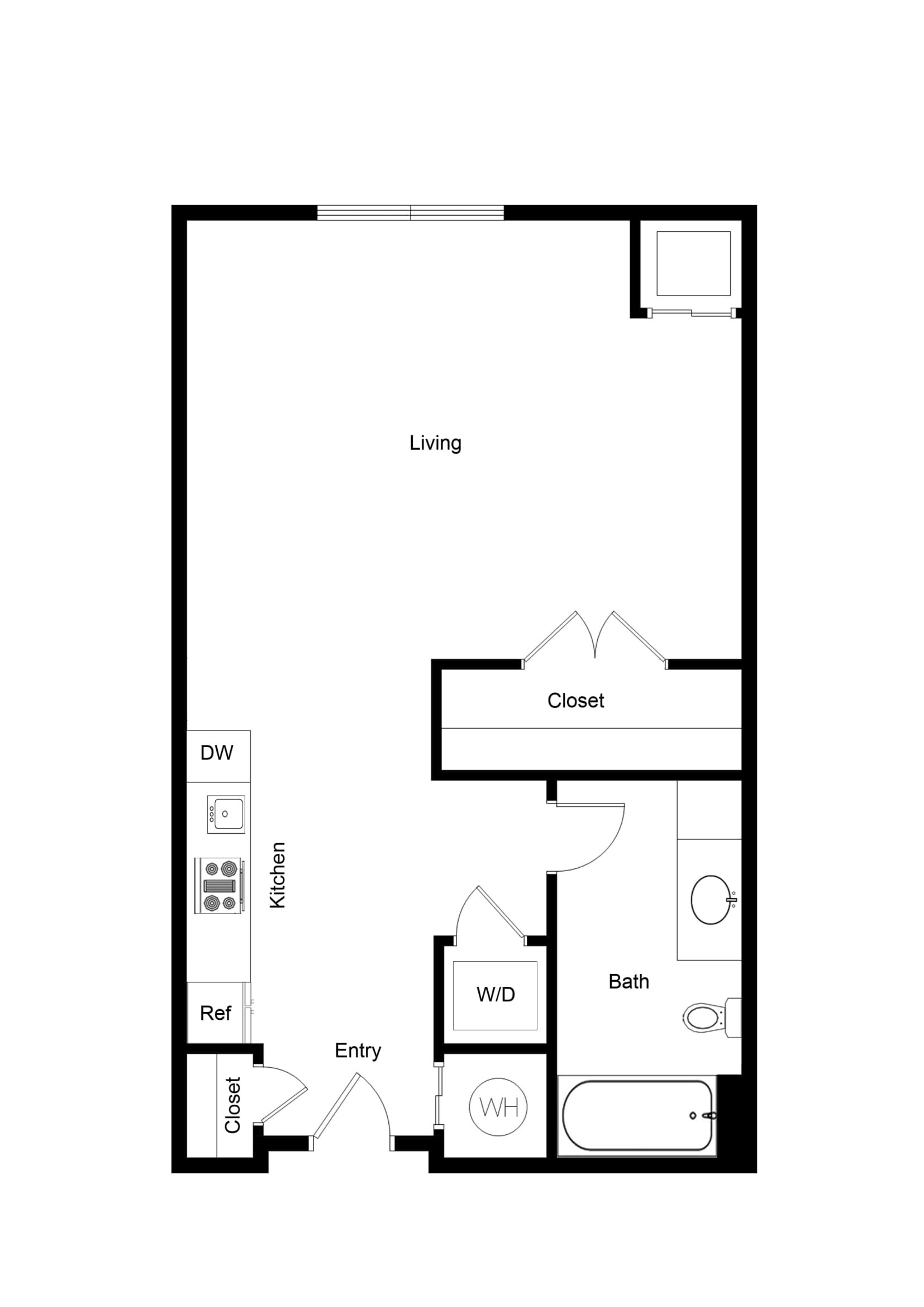 Studio 0x1S02A Floor Plan 3