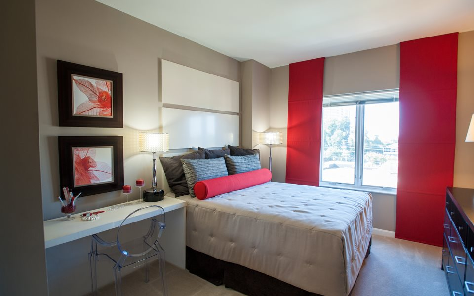 Apartment Model Red Bedroom