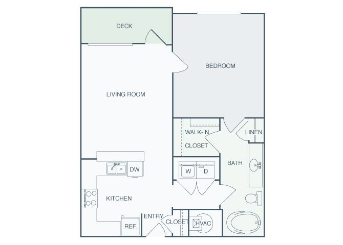 Perimeter Gardens at Georgetown - Pathway - 1 bedroom - 1 bath