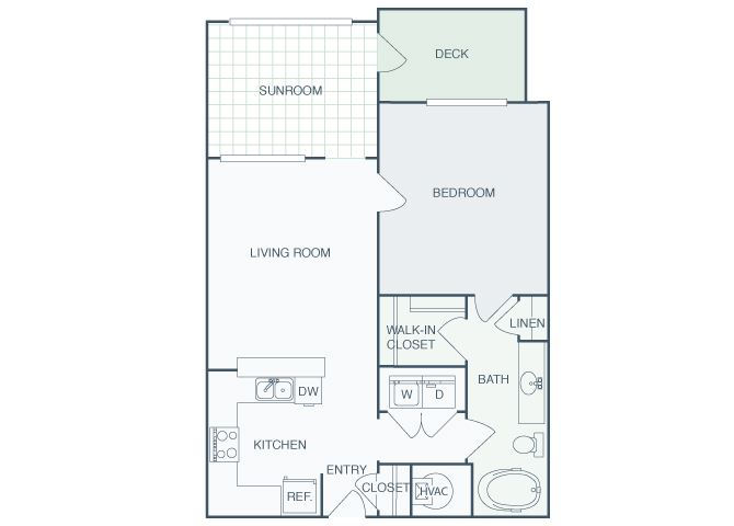 Perimeter Gardens at Georgetown - Sunroom Pathway - 1 bedroom - 1 bath