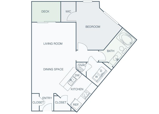 Perimeter Gardens at Georgetown - Concourse - 1 bedroom - 1 bath