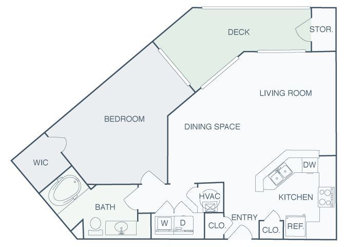 Perimeter Gardens at Georgetown - Interflow - 1 bedroom - 1 bath