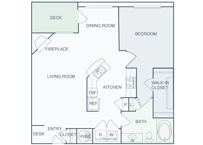 Perimeter Gardens at Georgetown - Alliance - 1 bedroom - 1 bath