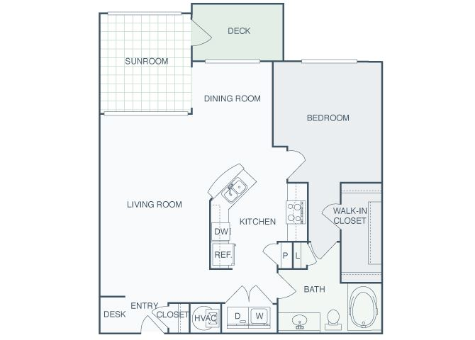 Perimeter Gardens at Georgetown - Sunroom Alliance - 1 bedroom - 1 bath
