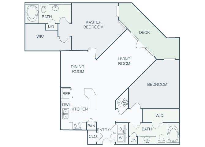 Perimeter Gardens at Georgetown - Intersection - 2 bedroom - 2 bath