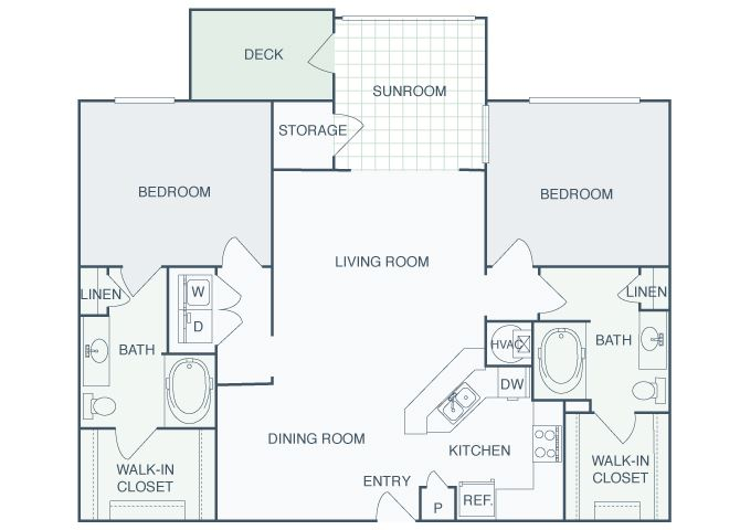 Perimeter Gardens at Georgetown - Sunroom Crossroads - 2 bedroom - 2 bath