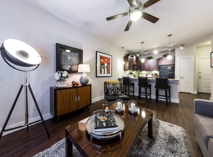 Apartments with Designer Lightning at Grand at the Dominion, San Antonio, Texas