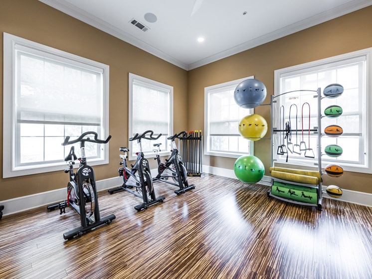 Yoga Studio with Spin Bikes and Fitness on Demand® Virtual Fitness Program at Grand at the Dominion, San Antonio, Texas