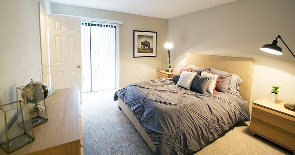 Apartment Master Bedroom at The Crossings, Marietta, GA