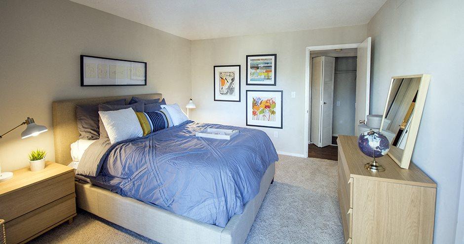 Comfortable Bedroom at The Crossings at Holcomb Bridge, Georgia
