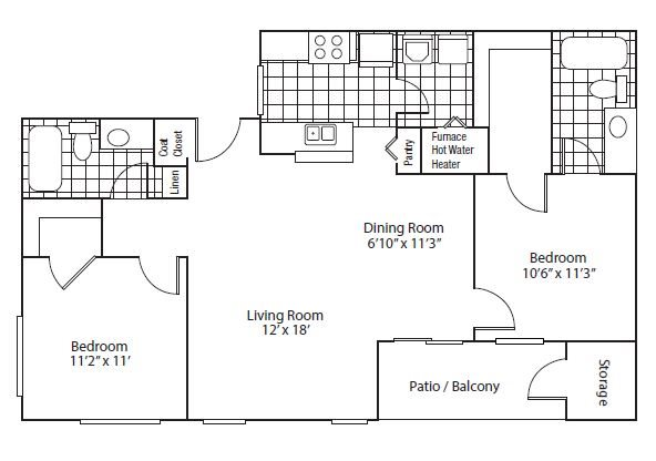 floor plan Barcelona | Altitude Westminster Apartments in Westminster, CO