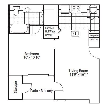 floor plan Granadas | Altitude Westminster Apartments in Westminster, CO