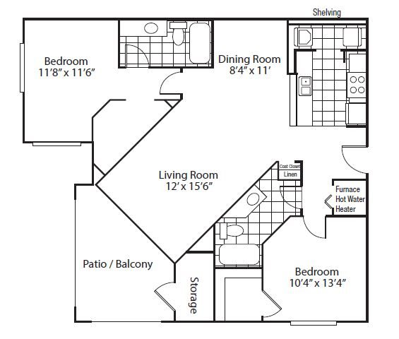 floor plan Madrid | Altitude Westminster Apartments in Westminster, CO