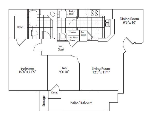 floor plan Seville | Altitude Westminster Apartments in Westminster, CO