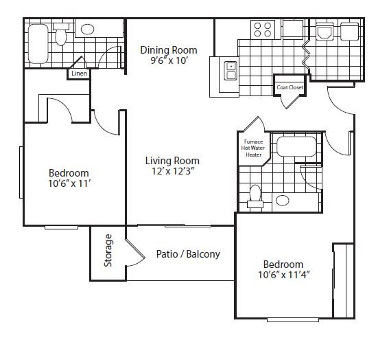 floor plan Valencia | Altitude Westminster Apartments in Westminster, CO