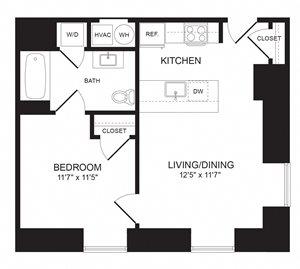 1 Bedroom - A02