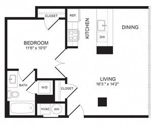 1 Bedroom - A04-05
