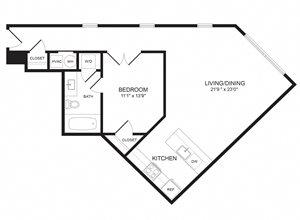 1 Bedroom - A221-22