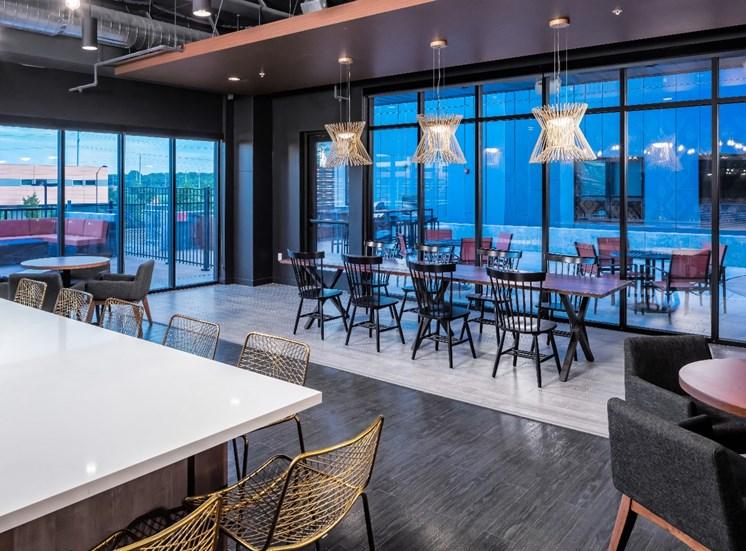 Club Room at Flux Apartments Des Moines IA