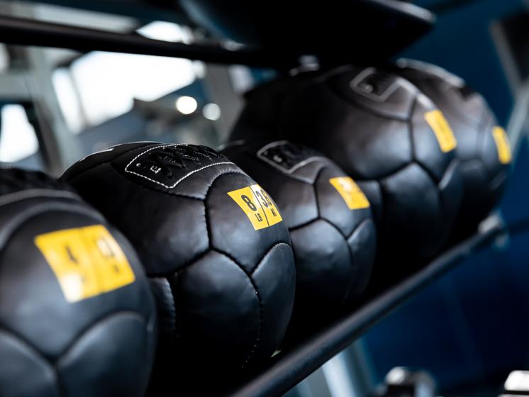 Exercise Balls at Flux Apartments Des Moines IA