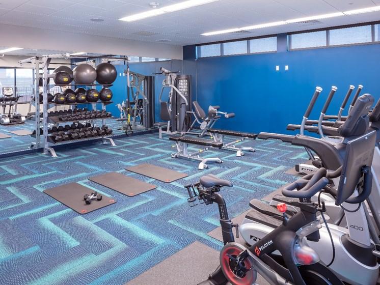 Fitness Center Flux Apartments Des Moines IA