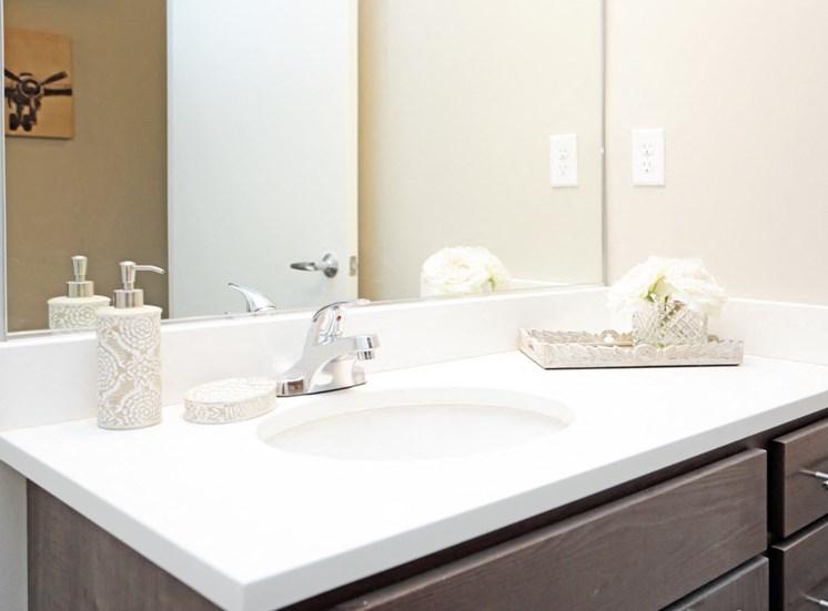 Model Bathroom at Flux Apartments Des Moines IA