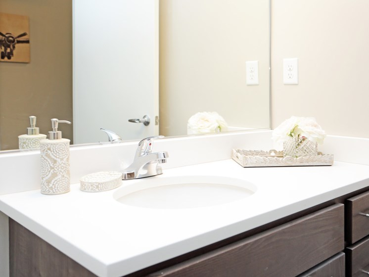 Model Bathroom at Flux Apartments Des Moines IA