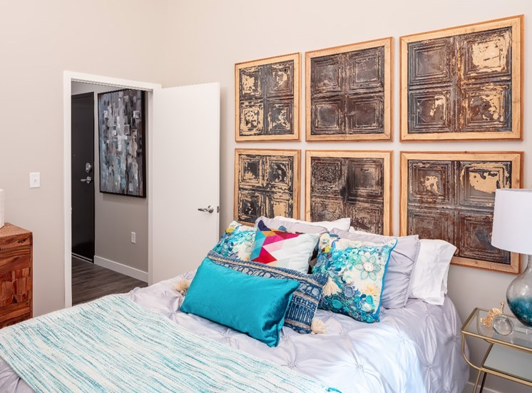 Model Bedroom at Flux Apartments Des Moines IA