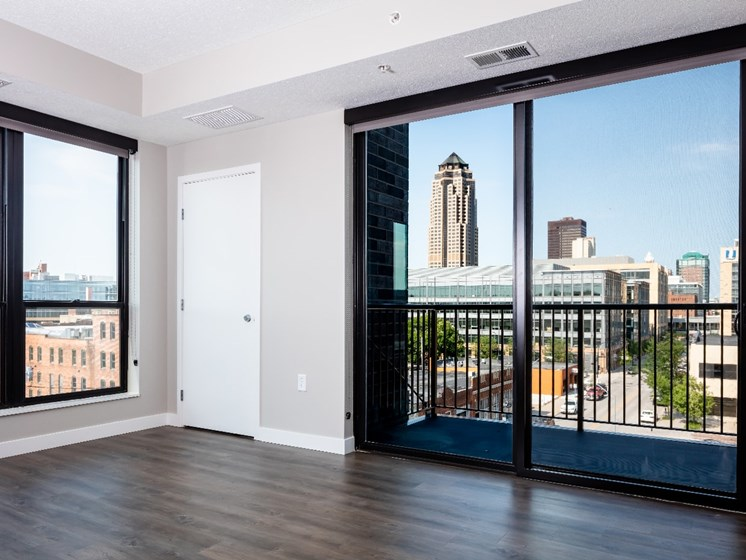 Room with a View at Flux Apartments Des Moines IA