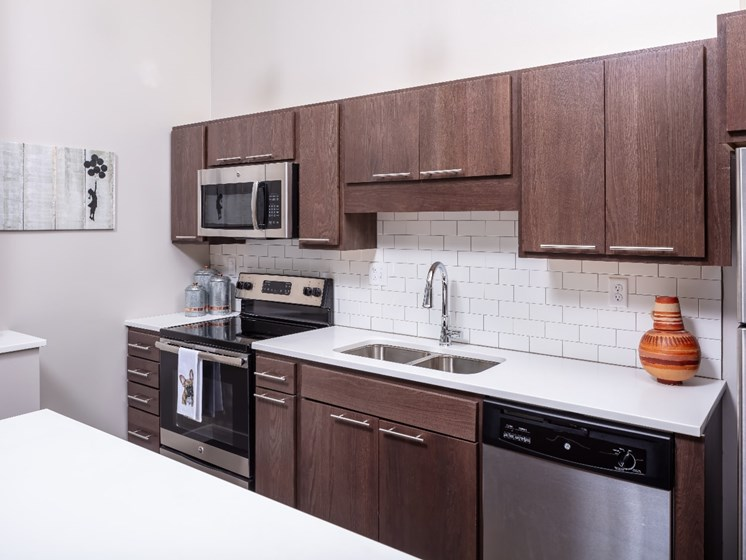Stainless Steel Appliances at Flux Apartments Des Moines IA