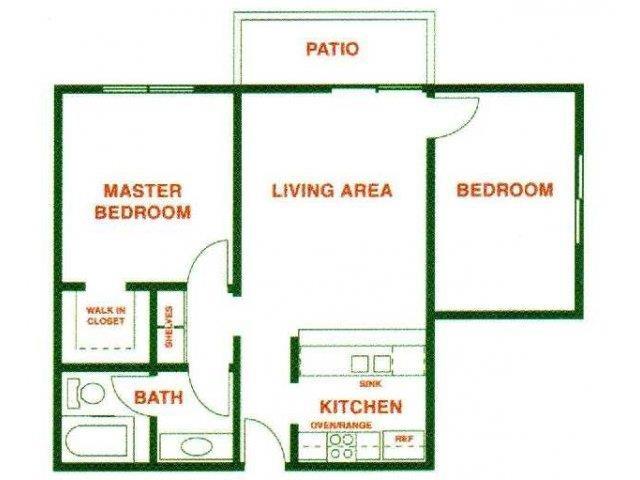 Serrano floor plan.
